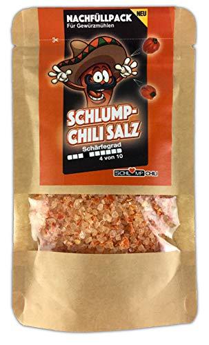 CHISA Habanero Chili Salz Nachfüllset für Gewürzmühlen 50 g