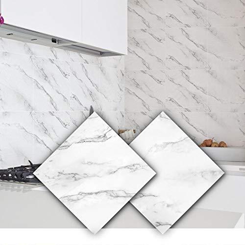 Sunnyushine Pegatinas para azulejos   Pegatinas autoadhesivas de 30 x 30 cm   2 unidades para baño y cocina   Adhesivo decorativo para azulejos – Diseño auténtico