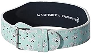 """4"""" Sea Lilies Leather Lifting Belt- Gym Powerlifting Belt for Olympic Lifting, Crossfit, Squats, Bodybuilding, and Fitness - Heavy Duty Contoured Belt - Sea Lilies Leather Lifting Belt for Women"""
