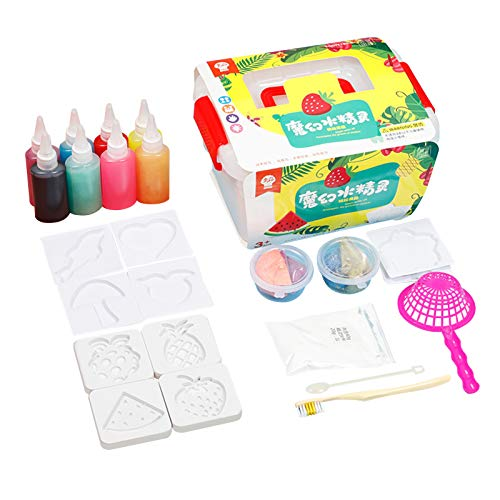 Aibecy Water Elves Pearlescent Sea Baby DIY Craft, 8 Colors Handmade Painting Toys Pretend Play Kit with Storage Box for Age 3+ Boys & Girls