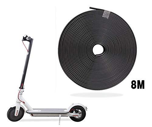 AUVSTAR Eléctrico Scooter Tiras Decorativas,Tira Anticolisión Strip,Tira Anticolisión del Cuerpo de Vespa para Las Piezas Eléctricas de Vespa del Coche del patín de Xiaomi Mijia M365. (Negro)