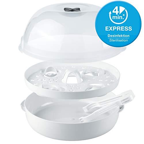 NUK Micro Express Plus Mikrowellen Sterilisator, für bis zu 4 Babyflaschen und Zubehör, schnell, effektiv und gründlich - 5
