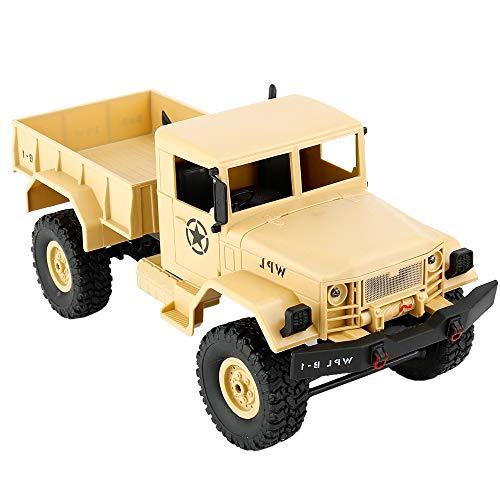 WPL B-1 DIY Assembly6 Mini 4WD RC Militar camión control coche juguete (azul) PingGongHuaKeJiYouXianGongSi (color: amarillo)
