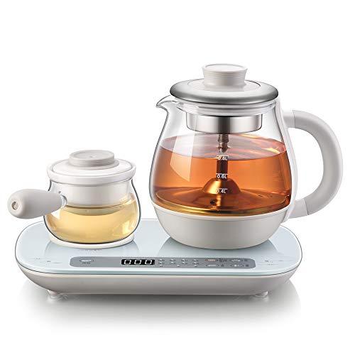 YSYDE Office Health Pot, Tetera eléctrica de Vidrio de 0.8 litros, con Separador de té, Filtro de cerámica, se Puede Usar con Confianza, para tés perfumados Tés Verdes Tés Blancos