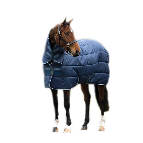 Huachaoxiang Warmer Pferdedecke, Outdoordecke Highneck Pferdedecke Halsansatz Wasserabweisend Turnout Weidedecke Abschwitzdecke Winterdecke Halsteil,Blau
