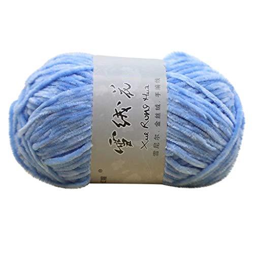 100g Velvet-Wolle Mitteldicke Wollfäden Zum Stricken und Häkeln DIY Handstricken Baumwollfaden Baumwollgarn für Schals Jacke Pullover Hut (G)