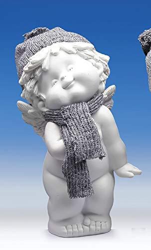Engel Igor -engelfiguur - engel staand met wollen muts en sjaal binnendecoratie 397 (Engel 1)