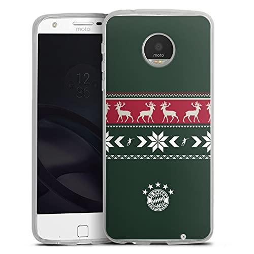 DeinDesign Silikon Hülle kompatibel mit Lenovo Moto Z Play Hülle transparent Handyhülle FC Bayern München Weihnachten FCB