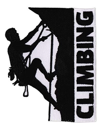 Climbing - Parche termoadhesivo para planchar en alpinismo y escalada en hielo, tamaño 7,2 x 9,1 cm