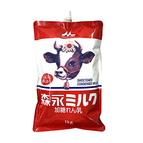 【業務用】森永 国産 加糖れん乳 スパウトパウチ 1kg 練乳 コンデンスミルク ミルリン