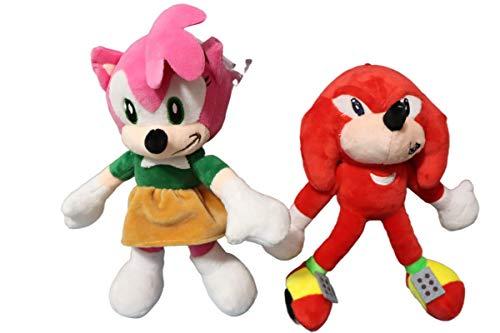 Peluche Sonic juguete 2 unids/lote 28 CM Sonic juguetes de peluche Sonic Shadow Amy Rose algodón suave juego de peluche juguetes para niños Chris regalo para niños
