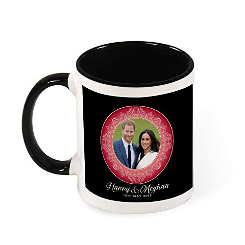 Red Harry and Meghan Royal Wedding Decorative Plate Ceramic Coffee Mug Tea Mug,Gift for Women, Girls, Wife, Mom, Grandma,11 oz