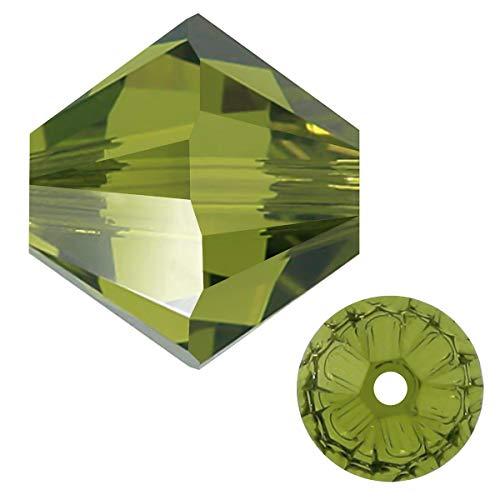 Swarovski Crystal, 5328 Crystal Bicone Beads, 3mm, Olivine, Pack of 144