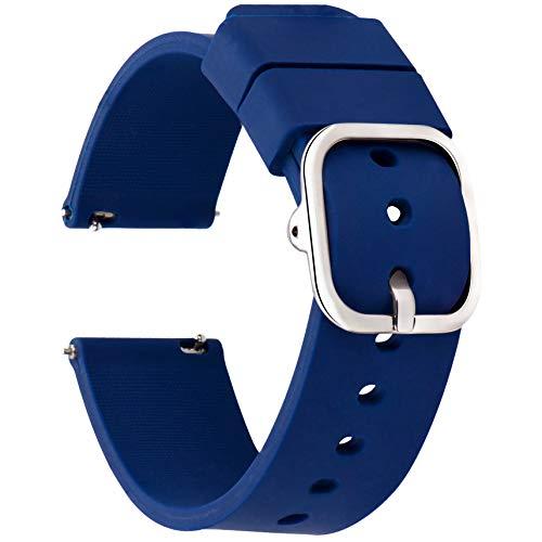 Matematikus Cinturini Orologi in Silicone 22mm 20mm 18mm, Sgancio Rapido Ricambio di Gomma Cinturino Orologio, Sportivo Braccialetto Compatible con Orologi e Smartwatch - Vari Colori