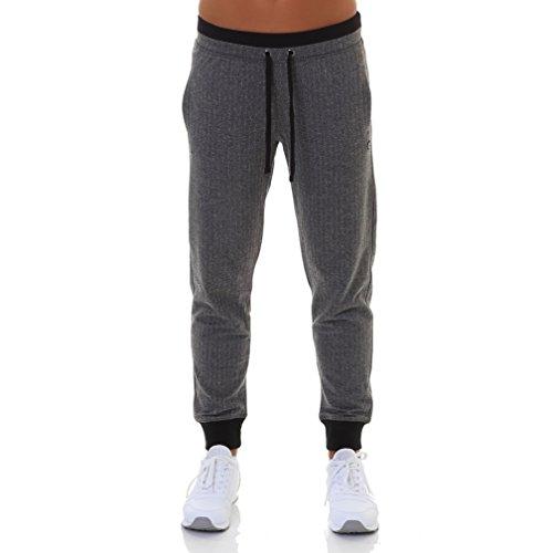 Champion Damen Rib Cuff Pants - Athleisure Sporthose, Grau (Znhig/NBK), W32 (Herstellergröße: X-Large)