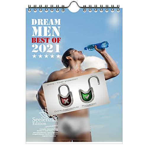 Sexy Dream Men für 2021 DIN A5 Kalender Erotik Männer Mann - Geschenkset Inhalt: 1x Kalender, 1x Weihnachtskarte (insgesamt 2 Teile)