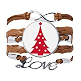 DIYthinker - Pulsera de árbol de Navidad, color rojo