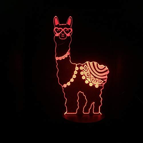 3D Ilusión Optica Led Luz Nocturna CXZZV 7 Colores Cambio Caballo De Barro De Hierba Animal Lámpara Para El Hogar Decoración Para Niños Mejor Regalo San Valentín De Cumpleaños De Navidad