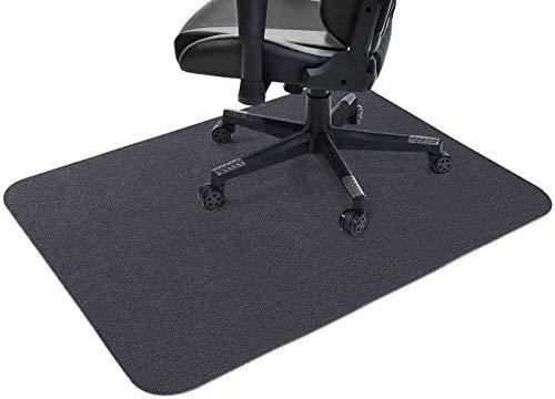 Tapete para silla, protector de piso para silla, rollo rectangular antideslizante para piso resistente a los arañazos, tapete para silla para protector de baldosas de alfombra (gris oscuro,