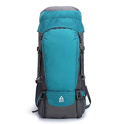 Mochila de senderismo impermeable ligera con cubierta de lluvia, 65 L, gran capacidad para deportes al aire libre, viaje, mochila para escalada, camping, viajes para hombres y mujeres