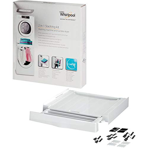 Whirlpool SKS 200 - Kit de superposición para lavadora y secadora, Color blanco