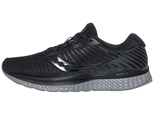 Saucony Men's Guide 13, Blackout, 8.5 Wide