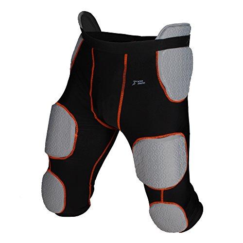 Active Athletics American Football Unterhose, Girdle mit 7 integrierten Pads - schwarz Gr. M