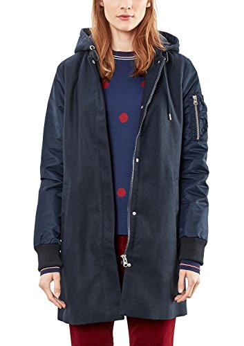 Q/S designed by - s.Oliver Damen 46709522725 Jacke, Blau (Dark Blue 5955), Medium