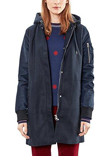 Q/S designed by - s.Oliver Damen 46709522725 Jacke, Blau (Dark Blue 5955), Large