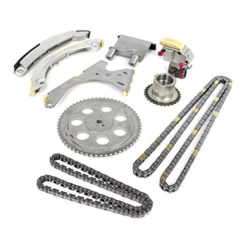 DNJ TK3138 Timing Chain Kit/For 2004-2012/ Chevrolet, GMC, Hummer, Isuzu/Canyon, Colorado, H3, H3T, i-280, i-290, i-350, i-370/2.8L, 2.9L, 3.5L, 3.7L/ DOHC/ 16V, 20V/ 169cid, 178cid, 211cid