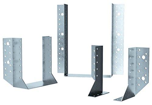 Holz Technic HT120160KE Estribo liso alas externas, Blanco, 120 x 160 mm, Set de 25 Piezas