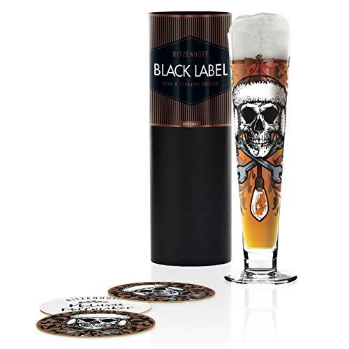 RITZENHOFF 1010247 Black Label Bierglas, Glas, 385 milliliters