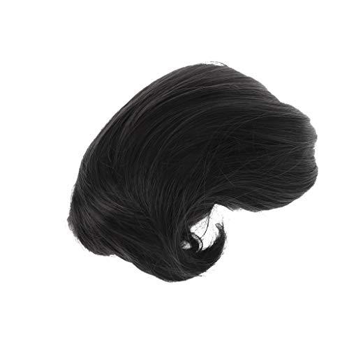 JIACUO-HAPPY Haarstukje Clip in Groot Haar Bun Staart Stright en Kleine Krullend Haar Extensions Pruik met Clips voor Bruid Hoofddeksels