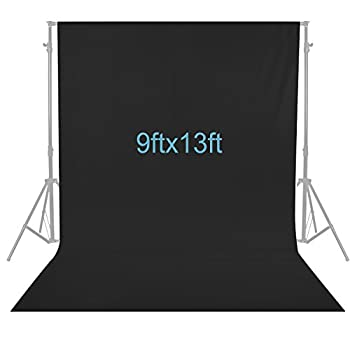 Neewer 9 x 13 feet/2.8 x 4 meters Photography Background Photo Video Studio Polyester Backdrop Background Screen  Black