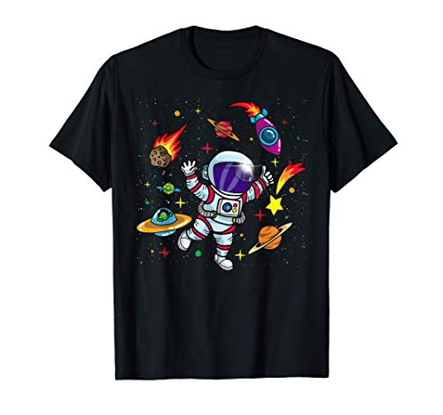 Outer Space Gift for Sci Fi Kids- Boys & Girls Astronaut T-Shirt
