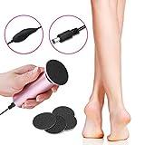 ELEVEN EVER Removedor de callo del pie eléctrico [European Specification], herramienta para el cuidado de los pies para eliminar la piel seca, dura, agrietada, agrietada y callos (rosa) # 2