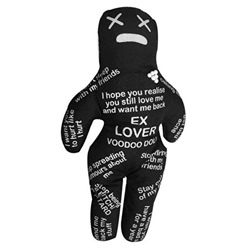 Voodoo Dolls-7' Bad Boss,Personalized Polyester Bad Boss Voodoo Doll Dammit Dolls Holiday Party Gifts(Black)