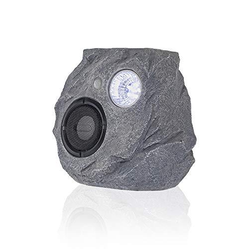 HAVEONESolar Powered Bluetooth Speakers with Rock Shape Sensor Light Home Portable Wireless Waterproof Bluetooth Speakers for Garden, Party, Backyard