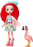 Enchantimals GFN42 Fanci Flamingo Doll (6-in) & Swash Animal Friend Figure, Multicolour