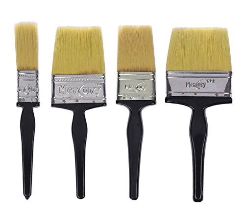Mercury Brush Double Thickness Triple Boiled Nylon/Polyester Blend Round Bristles Paint Brush...