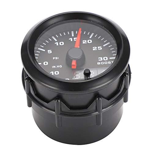 Akozon 52mm/2in 7 colores LED Turbo Boost Meter Digital Turbo Boost Gauge Set de instrumentos de modificación del coche