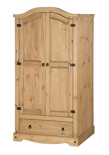 Mercers Furniture Corona 2 Door 1 Drawer Wardrobe