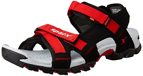 Sparx Men's SS0447G Black and Red Athletic and Outdoor Sandals - 9 UK/India (43 EU) (SS-447)