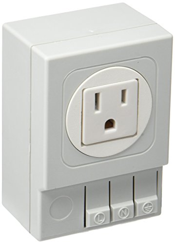 Stego 03504.0-01 SD-035 stopcontacten van kunststof, zonder zekering, US/Canada, 15 A, 125 VAC, lichtgrijs