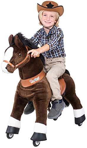 Miweba PonyCycle Mister Ed - Modell 2021 - U Serie - Schaukelpferd - Kuscheltier auf Rollen - Inline - Kinder - Pony - Pferd - Reiten - Plüschtier - MyPony (Medium)