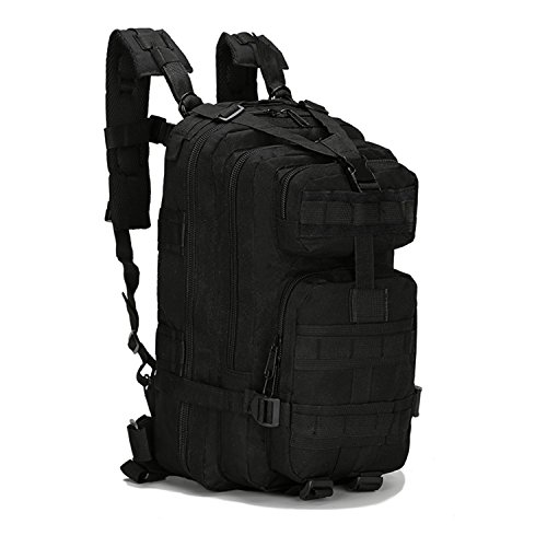 horeen 40L Sport Outdoor Military Backpack Tactical Backpack 3 Day Assault Pack Molle Rucksack Camping Hiking Trekking Hunting Bug Out Bag (BLACK)