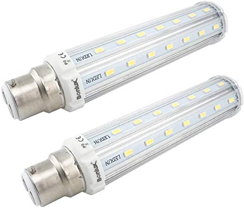Bonlux 2-Stück 15W Mais LED Glühbirne B22-Sockel Warmweiß 3000K Super Hell bei 1400 Lumen B22 led Maislampe für Tischlampen, Nachtischlampe im Schlafzimmer, Küchentisch, Esszimmerlampe, Hängendes Licht
