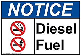 Ohuu Notice Diesel Fuel Ansi Safety Sign,Iron,Metal Warning Signs,Private Sign,Notice Sign,8