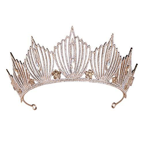 Lurrose corona nupcial de la boda rhinestone corona vintage tocado barroco sombreros...