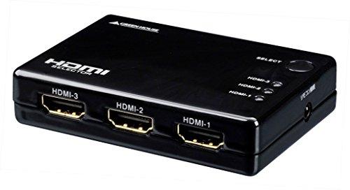グリーンハウス Deep Color/3D映像 フルHD映像対応 HDMI切換器 3台用 リモコン付 Input3+Output1ポート GH-HSW301